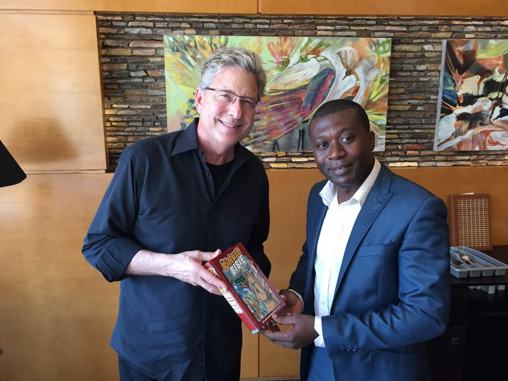Don Moen with Ghanian partner, Daniel Mensah.